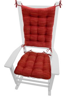 Incroyable Brisbane Red Reversible, Latex Fill Rocking Chair Cushions Are Made Of A  Basketweave Upholstery Fabric