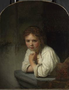 Rembrandt Harmensz van Rijn, Girl at a Window, 1645, oil on canvas, DPG163. By Permission of the Trustees of Dulwich Picture Gallery, London.
