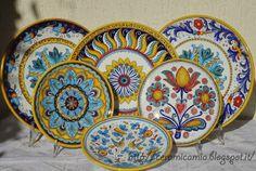 #Piatti da muro #dipinti a mano. #Ceramica #Italy http://ceramicamia.blogspot.it/p/piatti.html