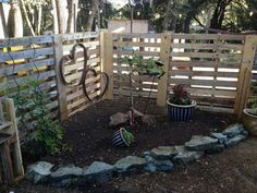 pallet fence.. maybe I should do this way cheaper