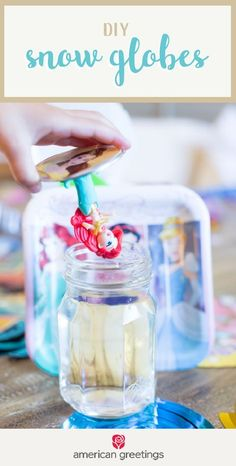 Looking for a fun and creative birthday party activity idea that also doubles as a party favor? Check out these DIY Snow Globes. Grab Disney princess decorations, party essentials, and supplies from Target to make this celebration worthy of your little girl. #diypartydecorationsbirthday