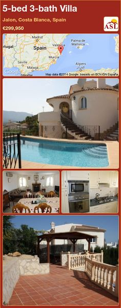 5-bed 3-bath Villa in Jalon, Costa Blanca, Spain ►€299,950 #PropertyForSaleInSpain