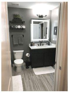 Grey Bathrooms Designs, Bathroom Design Small, Bathroom Interior Design, Bath Design, Modern Bathrooms, Tile Design, Farmhouse Bathrooms, Small Grey Bathrooms, Small Bathroom Ideas On A Budget