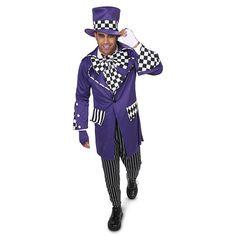 Adult Gothic Mad Hatter Costume, Size: Medium, Multicolor
