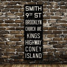 City Subway Signs:  Similar to the Restoration Hardware version, but a fraction of the price.