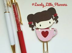 This sweet girl is just too cute. This clip can be personalized. You will be able to choose her hair color as well as skin color :) #plannerclip #planner #planneraddict #plannerlove #plannernerd #plannercommunity #plannergoodies #planning #planningwithbelinda #erincondren #kikkik #filofax #katespade #plannerclips #bookmark #katespadewellesley #valentines #love #heart #stickers #plannerstickers #lovelylittleplanner by lovely_little_planners