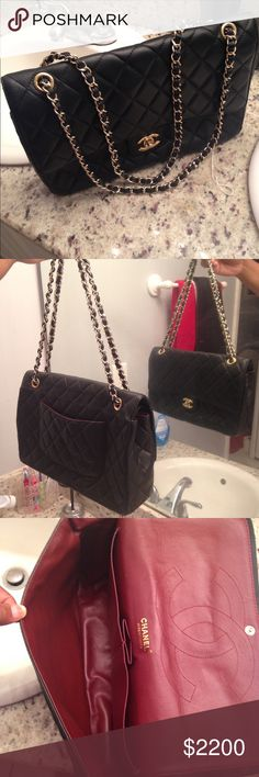 Chanel lambsking double flat bag Very good condition CHANEL Bags Shoulder Bags