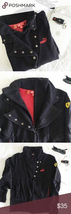 dd1cb2565d3b Puma Scuderia Ferrari Black Jacket Limited Edition Scuderia Ferrari Puma  black women s jacket. Ferrari logo
