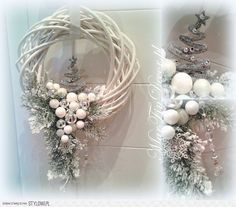 icu ~ Pin on wianki i stroiki ~ This Pin was discovered by Agnieszka Kina. Christmas Makes, Noel Christmas, Christmas Projects, Christmas Ornaments, Christmas Cookies, Easter Holidays, Holiday Wreaths, Christmas Inspiration, Xmas Decorations
