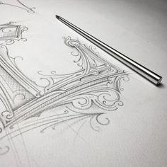 """⅄HꓒꓯꓤꓨOꓒ⅄ꓕ :) ☕️✏️ @tomasz_biernat """"my new toy✏️__ :) #dzienpiorawiecznego #napkin #napkinforever #pencil #sketch #handmadefont #typism…"""""""