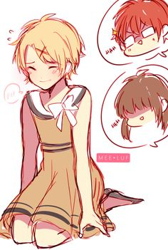 MC's revenge on yoosung (ft. 707) Anon requested yoosung in a dress so I put him in Rika's dress 8D
