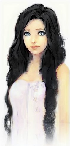 """""""Play"""" with xiu xiu meitu. Original picutre: https://www.pinterest.com/pin/559572322428221522/ Anime girl, Draw, Black hair, cute"""