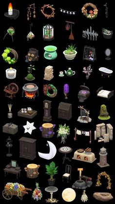 """""""Any animal crossing peeps got any of these? Or anything spooky? I need to up my goth queen witch decor game. I have bells! Animal Crossing Guide, Animal Crossing Qr Codes Clothes, Animal Crossing Villagers, Animal Crossing Pocket Camp, The Sims, Sims 4, Ac New Leaf, Motifs Animal, Witch Decor"""