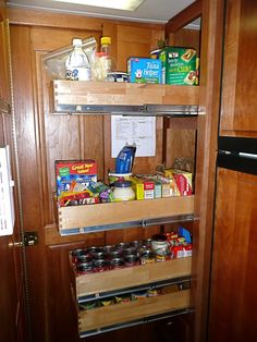 rv now rv camping ideas pinterest pantry slide out. Black Bedroom Furniture Sets. Home Design Ideas