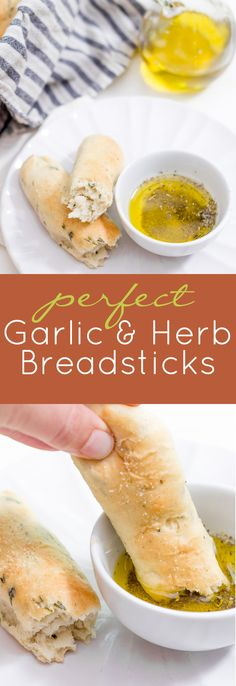 Looking for a fool-proof breadstick recipe? This is it! These garlic and herb breadsticks are fluffy, buttery, and delicious!