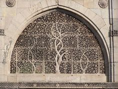 Ahmedabad Photos - Pic 1890 The carved grills of the Sidi Sayeed Mosque at Ahmedabad...