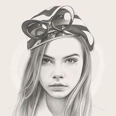 Evgeni Koroliov (@evgenikoroliov) • Фото и видео в Instagram Beautiful Pencil Drawings, Realistic Pencil Drawings, Woman Sketch, Girl Sketch, Unique Faces, Black And White Portraits, Drawing People, Art Sketches, Illustration Art