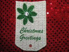 Christmas Greetings Gift Tag by HomeMadeOrnaments, $4.49 USD