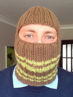 Free Pattern Friday: Chunky Balaclava by Erika Phillips is a great last minute knit for dad (there is still time!) and would be manly in our Chocolate Lily colorway of Florafil!