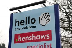 Henshaws accessible and welcoming signage  www.jg-creative.co.uk