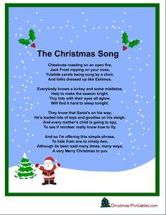 christmas carol words | Christmas and Holiday Carols Caroles ...