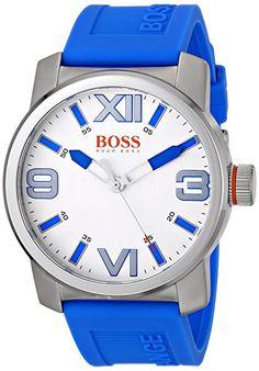 BOSS Orange Men's 1512987 Dubai Analog Display Quartz Blue Watch Emporio Armani, Do Boss, Boss Orange, Michael Kors, Hugo Boss Man, Women Brands, Cool Watches, Chronograph, Omega Watch