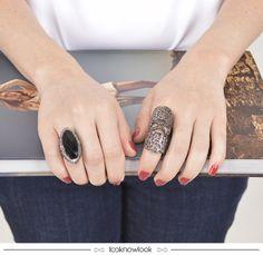 Anéis com pedrarias. #moda #acessórios #bijoux #iorane #anel #look #shop #loja #ecommerce #compreonline #lnl #looknowlook