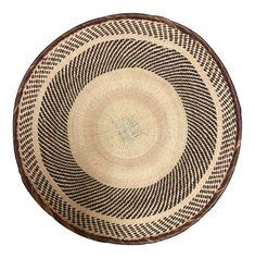 Binga Basket   Tonga Baskets 15  African Basket   Woven Basket  Zimbabwe Basket  Ethnic Pattern  Ethnic Decor  Wall Hanging Basket on Chairish.com