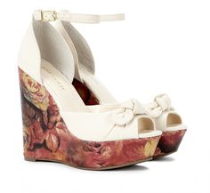 floral trend wedges. these could really be dressed up for a wedding or summer party
