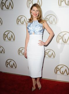 Claire Danes wore Christian Dior to the Producers Guild Awards in Los Angeles on Sunday.