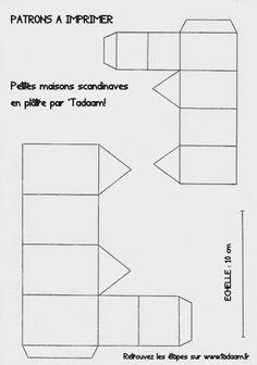 *Tadaam !: DIY / Tuto : Petites maisons scandinaves en plâtre