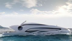 Futuristic Yacht: Oculus 250-foot luxury yacht inspired by an oceanic fish…