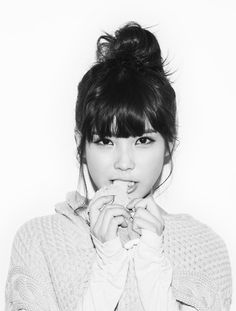 love the bang/top knot combo #iu