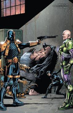 Deathstroke vs Lex Luthor in 'Forever Evil (New 52!)'