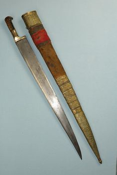 Khyber Knife / Salawar Yataghan, an Afghani bladed weapon. It is called a…