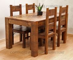 Rustic Dining Tables | RUSTIC FARM 150cm DINING TABLE & 4 RUSTIC FARM CHAIRS