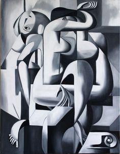 Cubist Paintings, Cubist Art, Abstract Art, Geometric Shapes Art, Arte Pop, Fine Art, Surreal Art, Portrait Art, Oeuvre D'art