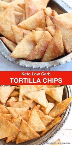 Crispy, crunchy and perfect for dipping! These Keto low carb tortilla chips tast… Crispy, crunchy and perfect for dipping! These Keto low carb tortilla chips taste just as good as the real thing, but with a fraction of the carbs. Great for nachos! Low Carb Chips Tortilla, Low Carb Tortilla Chips Recipe, Low Carb Diets, Aperitivos Keto, Comida Keto, Snack Recipes, Dessert Recipes, Diet Recipes, Slimfast Recipes