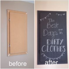 Hide that ugly electrical panel with chalk board paint!