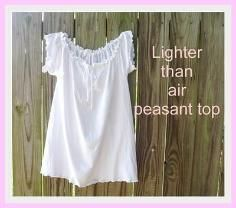 DIY Tutorial DIY Clothes / T-shirt refashion to Peasant Top - Bead&Cord
