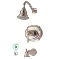 Hall Bath   Glacier Bay Lyndhurst Single Handle Tub And Shower Faucet In  Brushed At The Home Depot