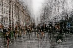 Edouardo Mortec's multiple exposure technique captures a very visceral and intense quality to the energy of Parisian crowds.