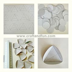 good pics - instructions in Spanish - for creating this shape. Diy Projects To Try, Projects For Kids, Crafts For Kids, Paper Vase, Christmas Crafts, Christmas Ornaments, Xmas, Origami Art, How To Make Paper