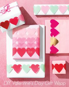 You've spent lots of time picking out the perfect Valentine's Day gift. Now, make some pretty punch-and-link hearts to add to the gift wrap and make it extra special.