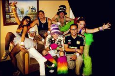 Crazy/Beautiful Family Before we would inevitably get drawn to different dj's and attractions on the Speedway we decided to take a group photo each night to record the crazy outfits we'd all worn. (I went as the Little Mermaid that night!) friends portrait color self heidi costume lasvegas taylor rave playtime edc plur electricdaisycarnival