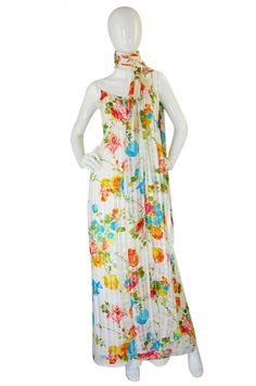 1970s Alfred Bosand Silk Gown and Cape