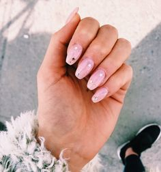A manicure is a cosmetic elegance therapy for the finger nails and hands. A manicure could deal with just the Nail Art Cute, Cute Acrylic Nails, Cute Nails, Pretty Nails, Hair And Nails, My Nails, Pink Nails, Burgendy Nails, Oxblood Nails