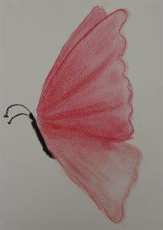 Pastelkrijt tekening vlinder pastel chalk drawing butterfly
