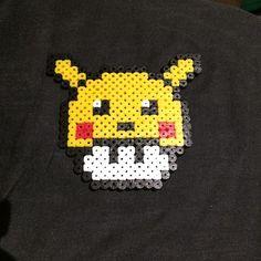 Pikachu mushroom perler beads by inkling.art