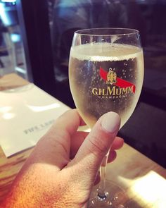 #datenight #mumm #dontmindifido Wine Glass, Beer, Tableware, Root Beer, Ale, Dinnerware, Tablewares, Place Settings